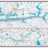 Guntersville Lake Alabama Waterproof Lake Map Back #102