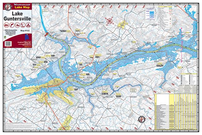 Lake Guntersville Map Lake Guntersville Map | compressportnederland Lake Guntersville Map