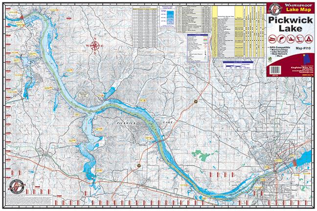 Pickwick Lake Map Pickwick Lake #110 – Kingfisher Maps, Inc.