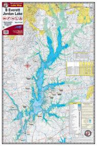 B Everett Jordan Waterproof Lake Map 1202