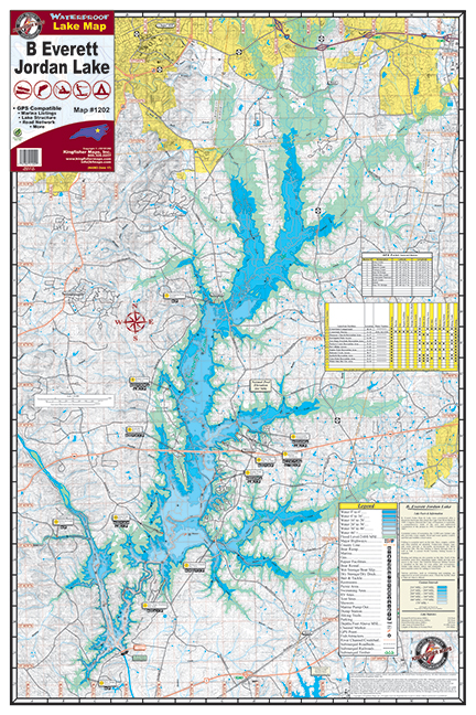 B Everett Jordan Lake 1202 Kingfisher Maps Inc