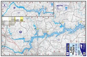 Hickory Lake & Lookout Shoals Waterproof Lake Map 1212