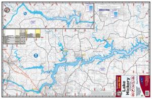 Hickory Lake & Lookout Shoals Waterproof Lake Map 1212