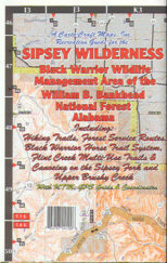 Sipsey Wilderness 122cc Waterproof Lake Map
