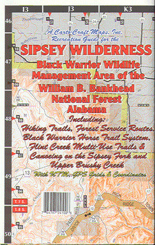 Sipsey Wilderness 122cc Waterproof Lake Map