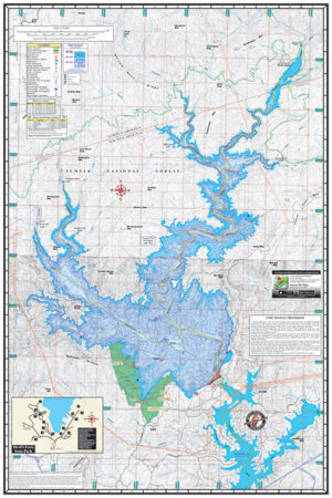 Lake Jocassee 1600 Waterproof Lake Map