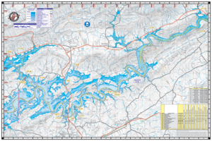 Lake Cherokee TN Waterproof Lake Map 1702 Back