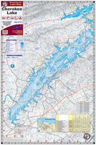 Lake Cherokee TN Waterproof Lake Map 1702 Front