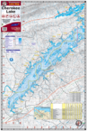 Lake Cherokee TN Waterproof Lake Map 1702 Front