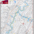 Lake Chickamauga Waterproof Lake Map 1704