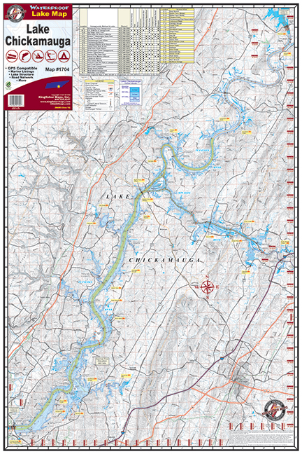 lake chickamauga 1704 kingfisher maps inc