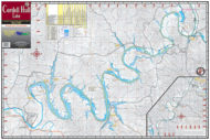 Cordell Hull Lake 1706 Waterproof Lake Map