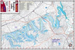 Douglas Lake 1710 Waterproof Lake Map