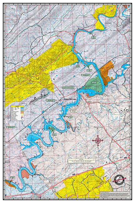 Fort Loudon Amp Melton Hill Lakes 1712 Kingfisher Maps Inc