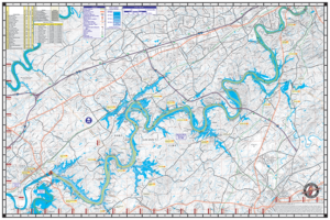 Fort Loudoun Waterproof Lake Map 1712