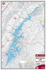 South Holston Lake Waterproof Lake Map 1725