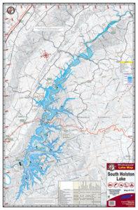 South Holston Lake Waterproof Lake Map 1725