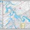 Tellico Lake 1728 Waterproof Lake Map