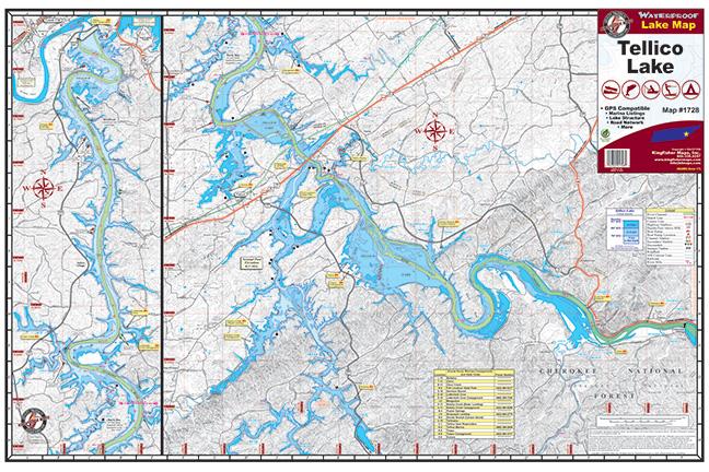 Tellico Lake 1728 Kingfisher Maps Inc
