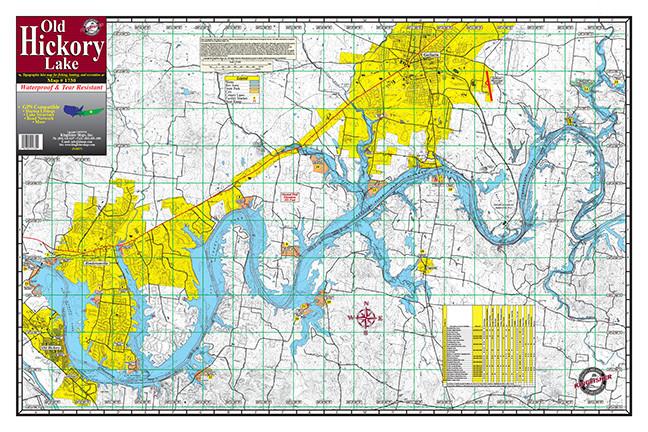 Old Hickory Lake #1730 Kingfisher Maps, Inc.