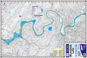 Nickajack Lake Water Proof Lake Map 1742