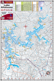 Lake Allatoona Waterproof Lake Map 202