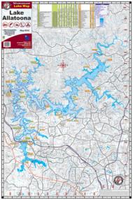 Lake Allatoona Waterproof Lake Map 202