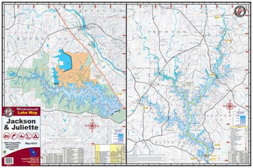 Lake Jackson Lake Juliette Waterproof Lake Map 203