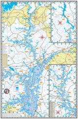 Lake Hartwell Waterproof Lake Map Back 302
