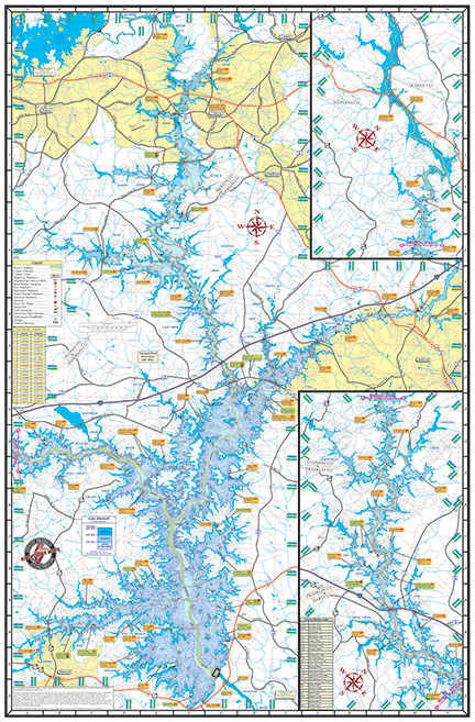 Lake Hartwell 302 Kingfisher Maps Inc