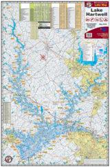 Lake Hartwell Waterproof Lake Map Front 302