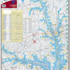 Lake Thurmond / Clarks Hill 305 Waterproof Lake Map