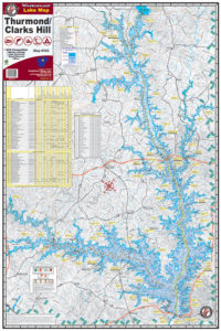 Lake Thurmond / Clarks Hill 305 Waterproof Lake Map