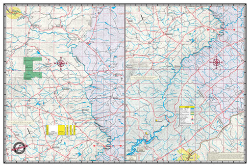 Upper Chattahoochee Back Map 307 Waterproof Lake Map