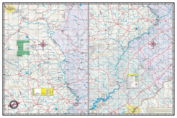 Upper Chattahoochee Back Map 307 Waterproof Lake Map
