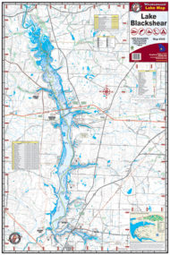 Lake Blackshear Waterproof Lake Map 309