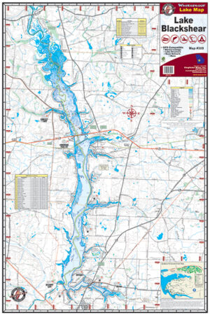 Lake Blackshear Waterproof Lake Map 309