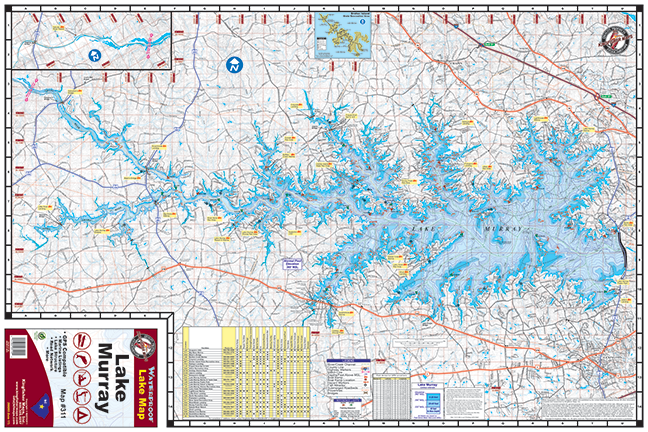 lake murray topographic map Lake Murray 311 Kingfisher Maps Inc lake murray topographic map