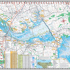 Santee Cooper Lakes Marion & Moultrie 312 Waterproof Lake Map