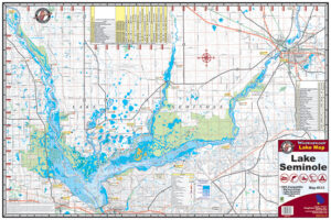 Lake Seminole Waterproof Lake Map 313