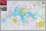 Weiss Lake 315 Waterproof Lake Map