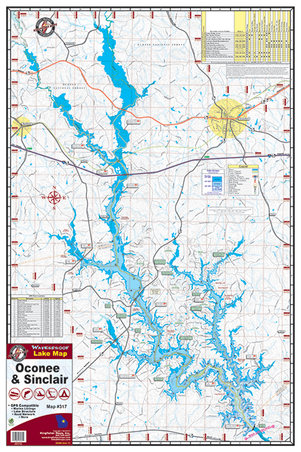 GA Lake Maps – Kingfisher Maps, Inc