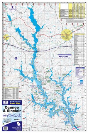 Lake Oconee Waterproof Lake Map 317 Front Image