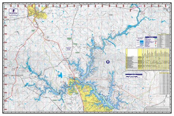 Lake Sinclair Waterproof Lake Map Back Image