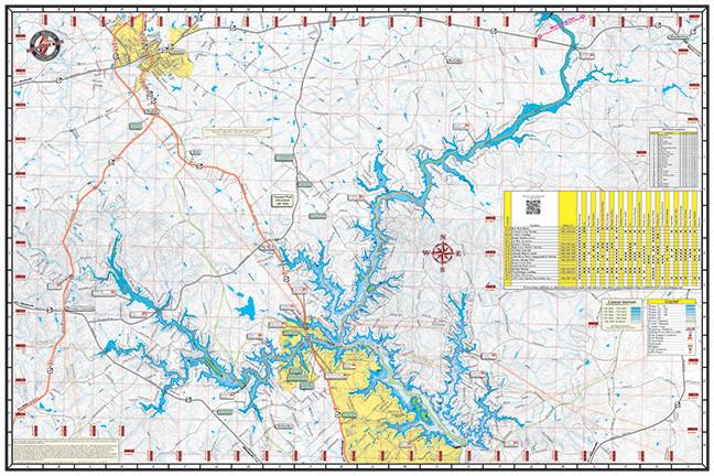 Lake Oconee Amp Lake Sinclair 317 Kingfisher Maps Inc