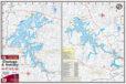 Chatuge & Nottely Lakes 318 Waterproof Lake Map