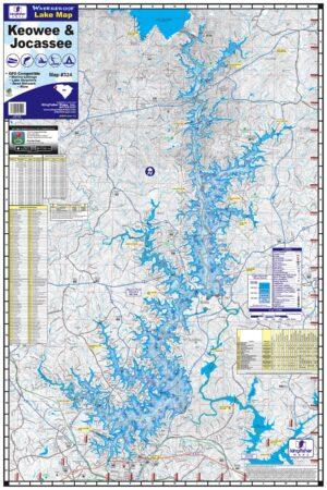 Lake Keowee 324 Waterproof Lake Map