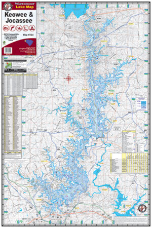 Lake Keowee 324 Waterproof Lake Map