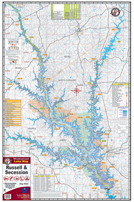 Lake Russell 325 Waterproof Lake Map