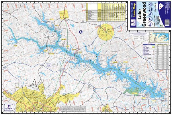 Lake Greenwood South Carolina Waterproof Lake Map 326